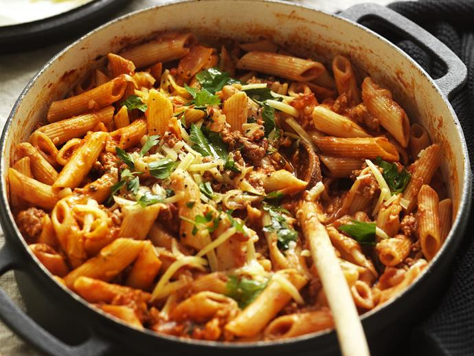 "Bring the taste of Italy to your home with this rich and [cheesy chilli bolognese](https://www.womensweeklyfood.com.au/recipes/cheesy-chilli-bolognese-10263|target=""_blank"")."