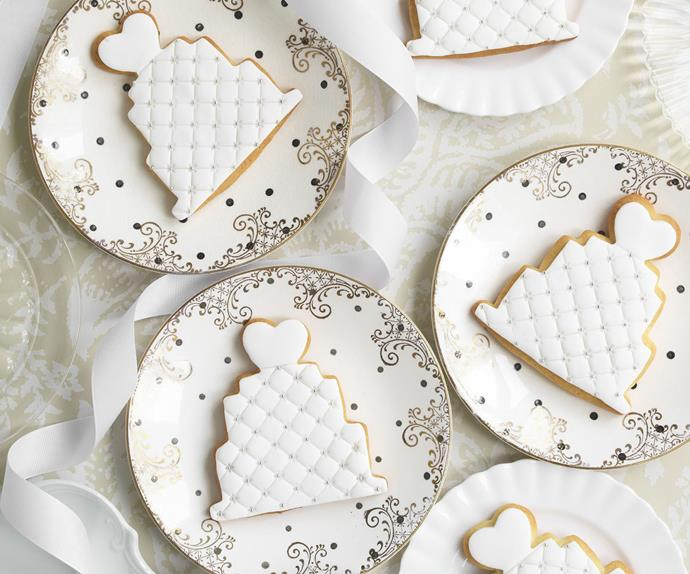 QUILTED WEDDING Cake Cookies