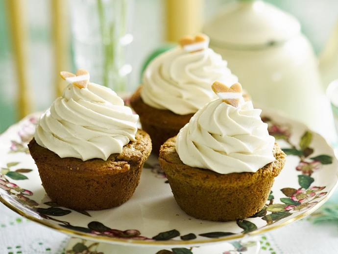 "**[Coffee caramel cupcakes](https://www.womensweeklyfood.com.au/recipes/coffee-caramel-cakes-9639|target=""_blank"")** piled high with delicious coffee cream, thanks to rich jersey caramels."