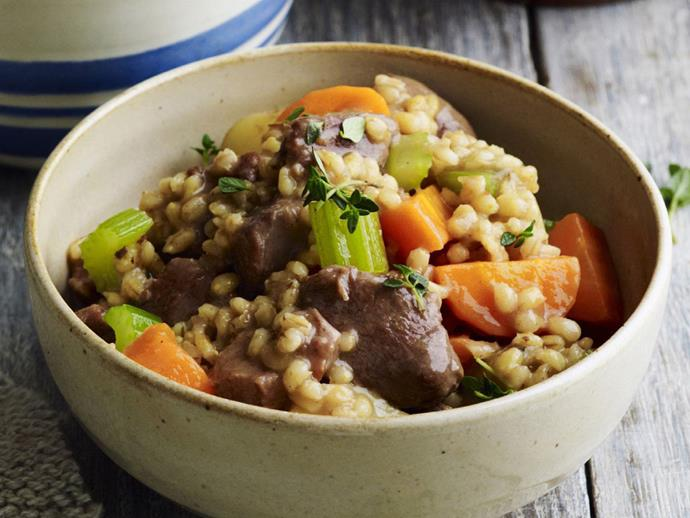 """**[Pressure-cooked country lamb and barley stew](https://www.womensweeklyfood.com.au/recipes/pressure-cooked-country-lamb-and-barley-stew-3805