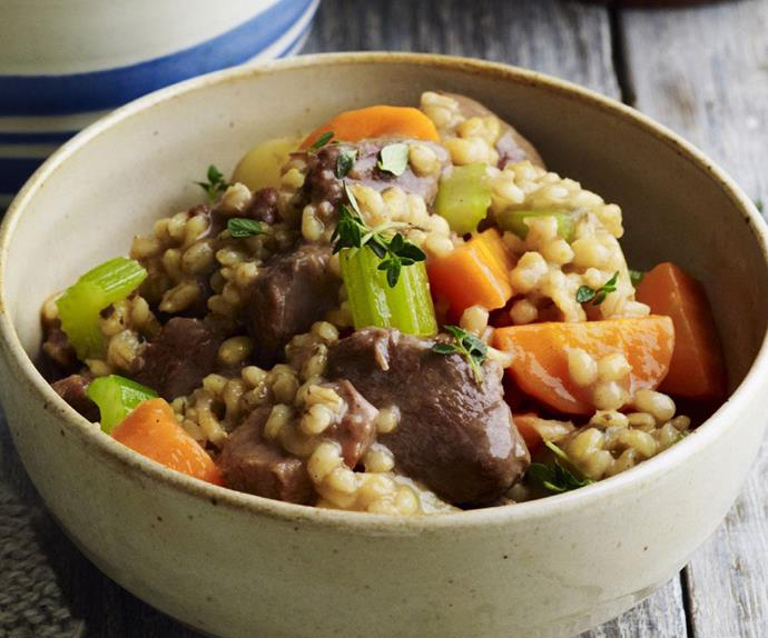pressure-cooked country lamb and barley stew