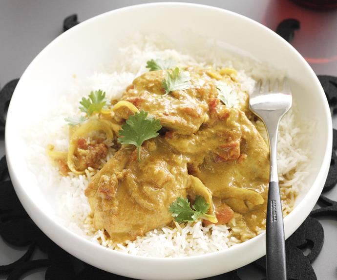 hot and spicy chicken curry