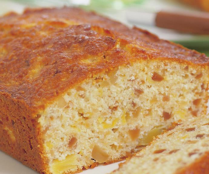 pineapple macadamia loaf