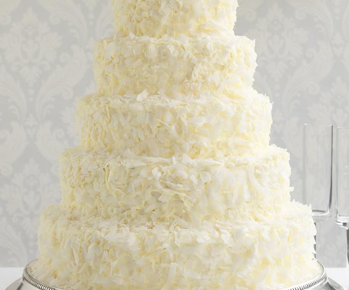 Coconut ruffle cake
