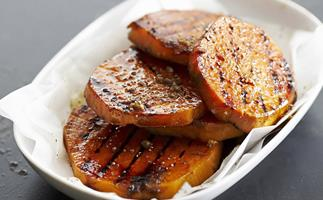 barbecued kumara slices