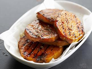 barbecued kumara slices