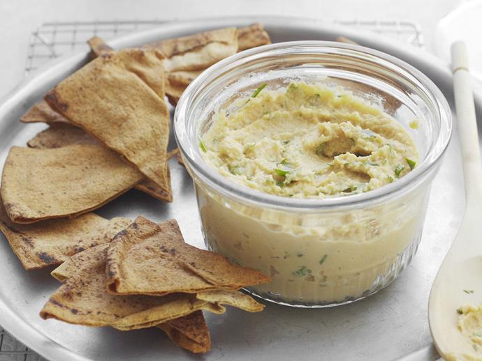 """**[Hummus](https://www.womensweeklyfood.com.au/recipes/hummus-9385