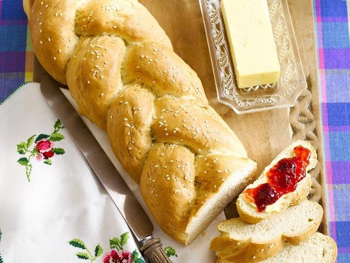"**[Homemade bread](https://www.womensweeklyfood.com.au/recipes/homemade-bread-9394|target=""_blank"")**"