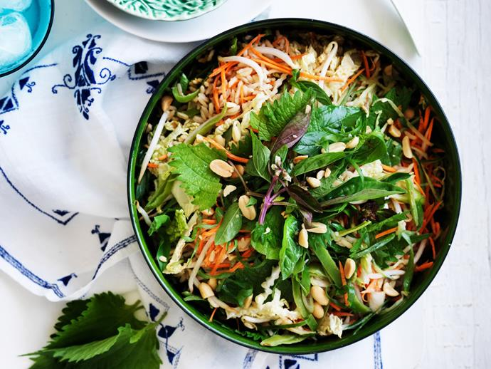 "**[Crunchy asian rice salad](https://www.womensweeklyfood.com.au/recipes/crunchy-asian-rice-salad-9463|target=""_blank"")**"