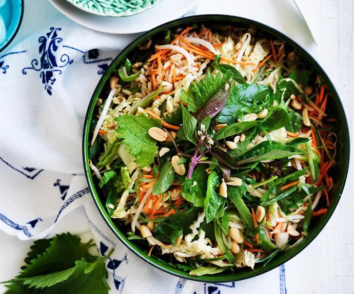 crunchy asian rice salad