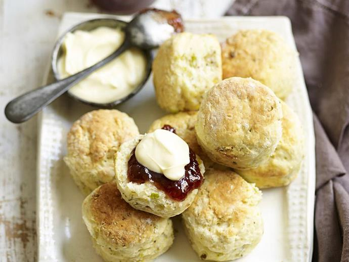 """**[Pistachio and rosewater scones](https://www.womensweeklyfood.com.au/recipes/pistachio-and-rosewater-scones-3638 target=""""_blank"""")**  Give your scones a delicate twist"""