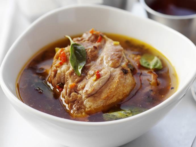 "**[Sour pork curry](https://www.womensweeklyfood.com.au/recipes/sour-pork-curry-3642|target=""_blank"")**"