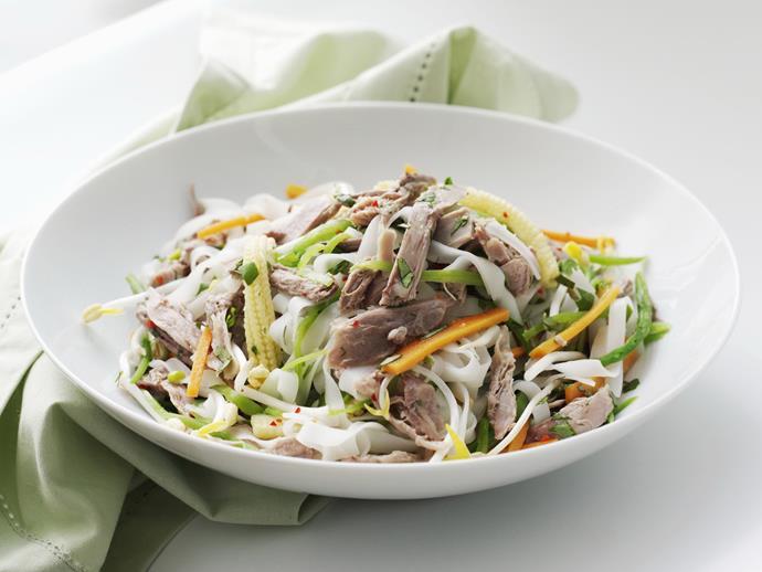 """[Vietnamese duck salad](https://www.womensweeklyfood.com.au/recipes/vietnamese-duck-salad-9508 target=""""_blank"""")"""