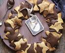Coffee wreath (with chocolate sauce)