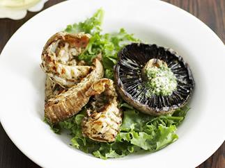 balmain bugs with garlic herbed butter