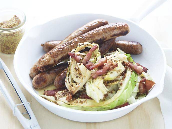 "**[Bratwurst with cabbage & speck](https://www.womensweeklyfood.com.au/recipes/bratwurst-with-cabbage-and-speck-16288|target=""_blank"")**  Combine these 'brats' - otherwise known as bratwurst sausages - with cabbage and speck and you'll have a hearty and delicious meal. Perfect with a winter evening in front of the fire."