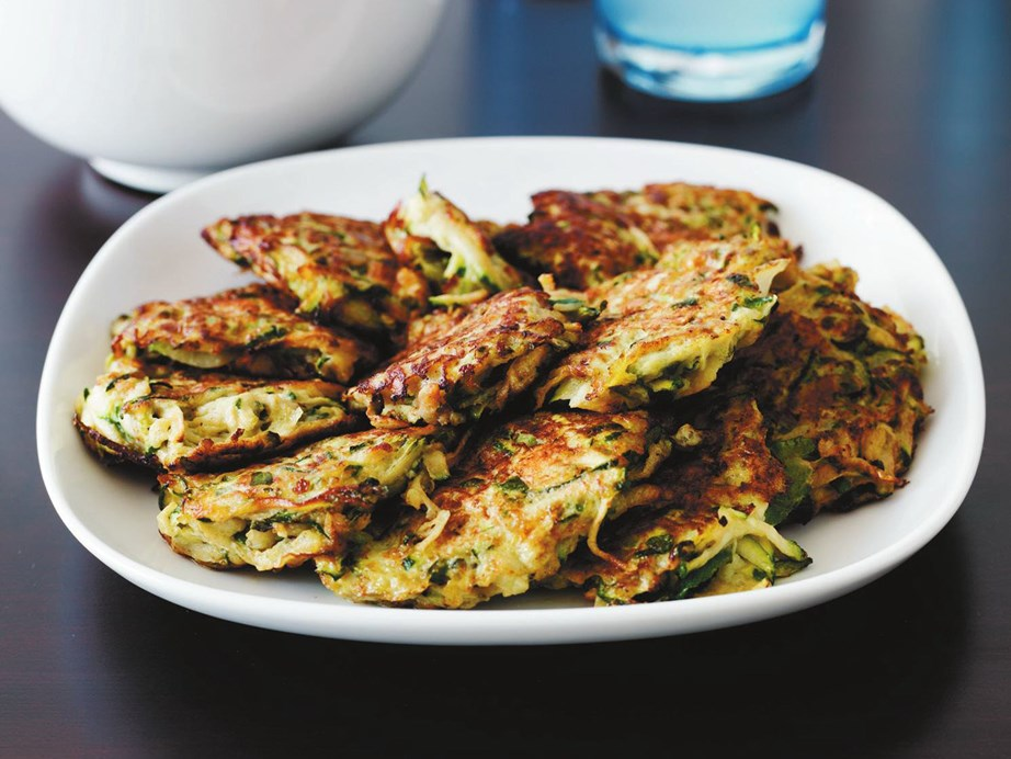 "**[Zucchini fritters with tzatziki](https://www.womensweeklyfood.com.au/recipes/zucchini-fritters-with-tzatziki-9069 target=""_blank"")**"