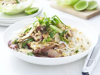 chinese barbecued pork salad