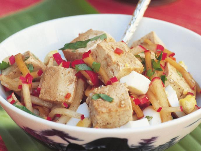 """**[Tofu and egg salad](http://www.womensweeklyfood.com.au/recipes/tofu-and-egg-salad-9208
