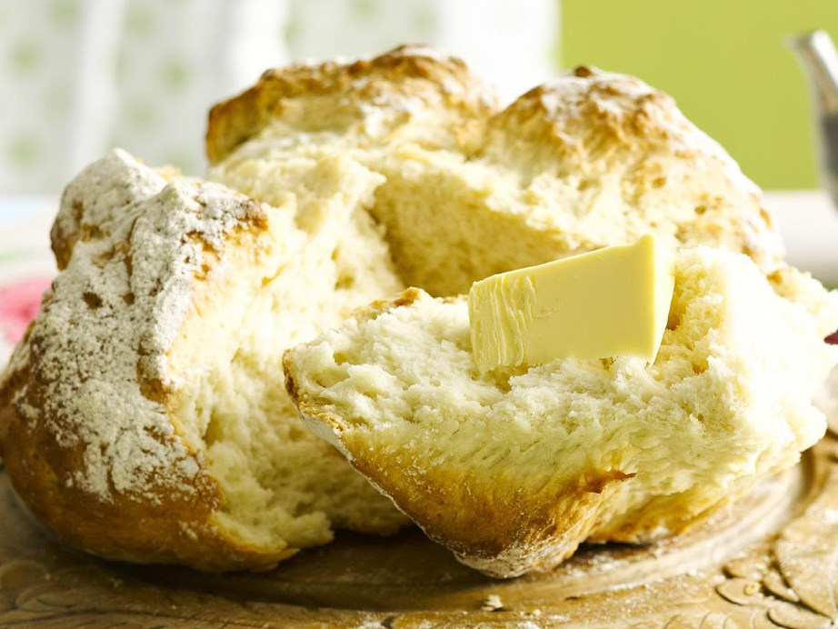 """This delicious [damper](https://www.womensweeklyfood.com.au/recipes/damper-9236 target=""""_blank"""") is best enjoyed hot from the oven with lashings of butter. Serve on its own, or as an accompaniment to a hearty bowl of soup."""