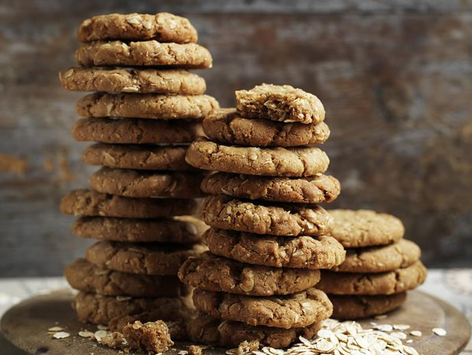 Traditional ANZAC biscuits, recipe [here](http://www.foodtolove.com.au/recipes/anzac-biscuits-16607)