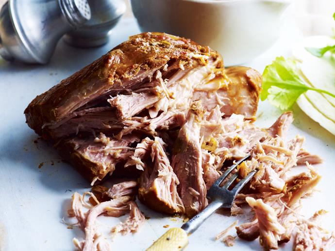 "**[Mexican pull-apart pork](https://www.womensweeklyfood.com.au/recipes/mexican-pull-apart-pork-3297|target=""_blank"")**  Serve this tender pulled pork in tortillas topped with sour cream and coriander."