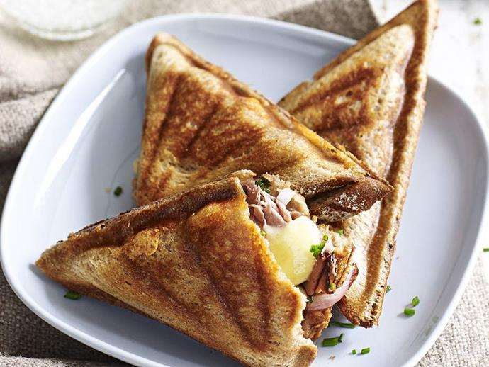 "**[Corned beef and mustard jaffle](https://www.womensweeklyfood.com.au/recipes/corned-beef-and-mustard-jaffle-3301|target=""_blank"")**  Nothing says comfort like this cheesy, creamy, corned beef jaffle recipe - packed with flavour, it's a perfect way to use up [leftovers](https://www.womensweeklyfood.com.au/war-on-waste-recipes-to-use-up-leftovers-30580