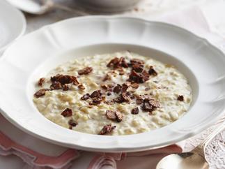 creamy honey and almond porridge