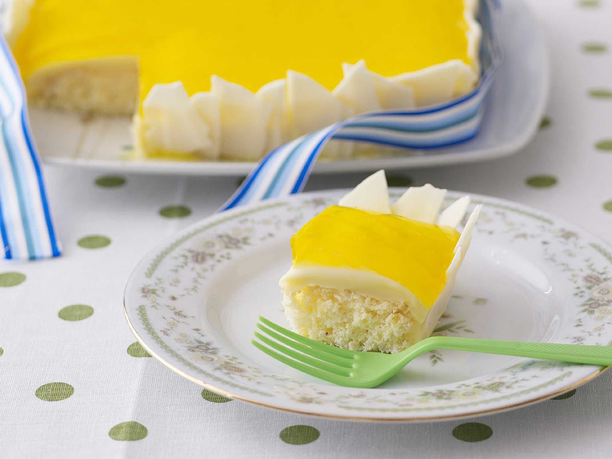 Fruit And Jelly Cake Recipe: Passionfruit And White Chocolate Jelly Cake
