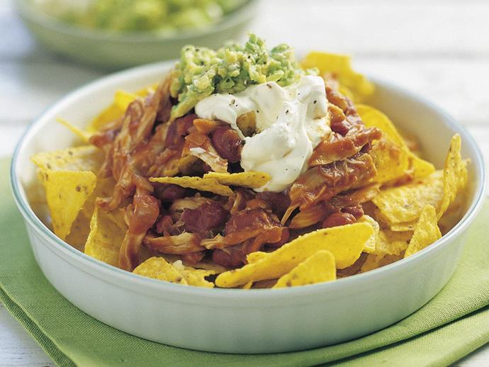 "If you're looking for something quick, easy and satisfying next time you're feeding a crowd, then this [chicken nachos](https://www.womensweeklyfood.com.au/recipes/chicken-nachos-15238|target=""_blank"") recipe is just the ticket. This beloved and popular Tex-Mex dish is a guaranteed winner."