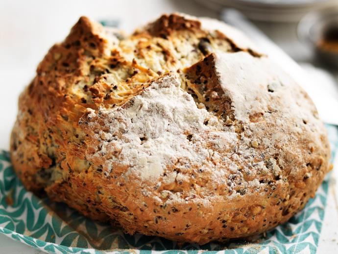 "**[Quinoa and seed cheese damper](http://www.womensweeklyfood.com.au/recipes/quinoa-and-seed-cheese-damper-8924|target=""_blank""):** Works just as well served with soup or on its own with butter and golden syrup."