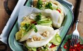 Spiced tofu bao with pineapple cucumber salad