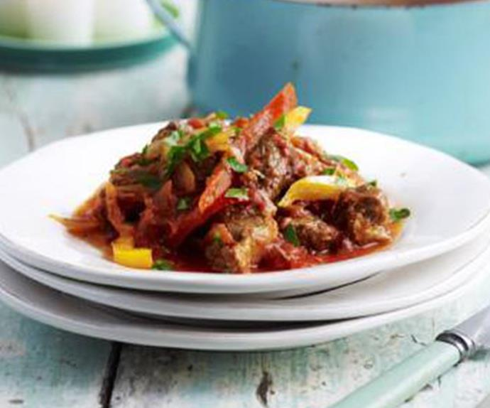 goat and capsicum stew