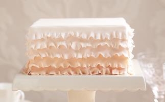 peaches & cream Frilled Cake