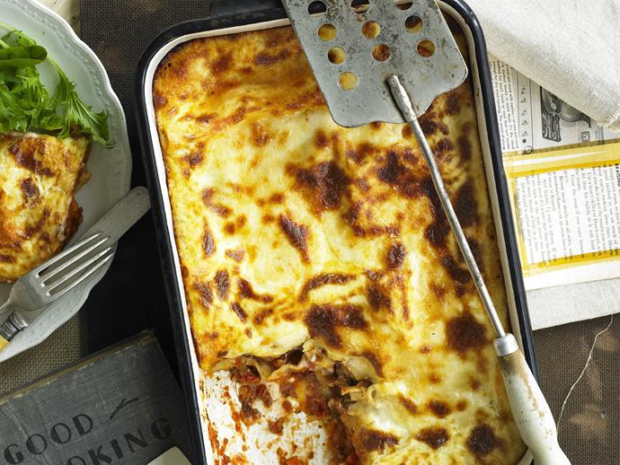 "The holy grail of homemade comfort food, this delicious [beef lasagne](https://www.womensweeklyfood.com.au/recipes/classic-lasagne-15254|target=""_blank"") is made from scratch for the most authentic lasagne experience since MASH was on the TV."
