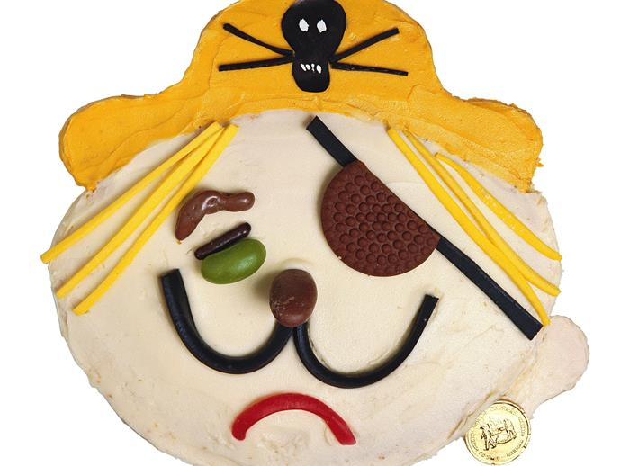 """**[Pirate face birthday cake](https://www.womensweeklyfood.com.au/recipes/pirate-pete-3437