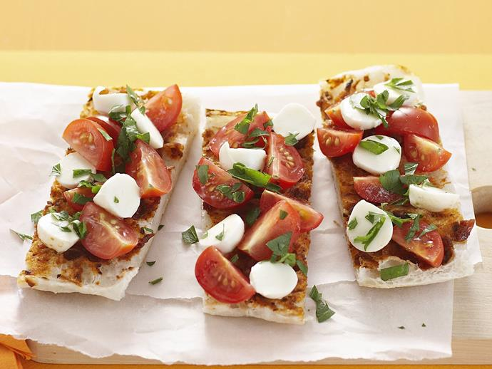"**[Bruschetta fingers](https://www.womensweeklyfood.com.au/recipes/bruschetta-fingers-8581|target=""_blank"")**"