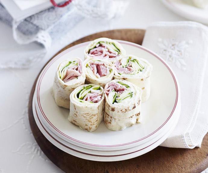 RICOTTA, ZUCCHINI and Ham Wrap