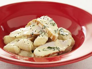 creamy herb and garlic chicken with gnocchi