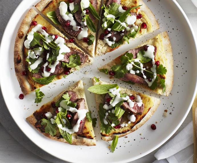 LAMB & POMEGRANATE PIZZA