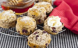 cranberry oatmeal and cinnamon scones