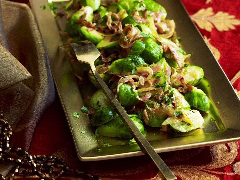 "Our **[brussels sprouts with crispy pancetta](https://www.womensweeklyfood.com.au/recipes/brussels-sprouts-with-crispy-pancetta-15263|target=""_blank"")** is the easiest way to have everyone eating their greens."