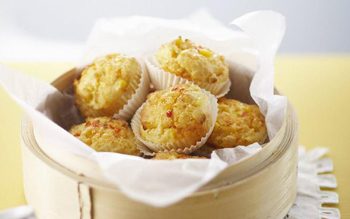 cream cheese, corn and sweet chilli muffins