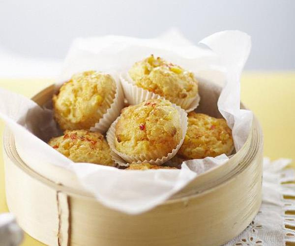Cream cheese, corn and sweet chilli muffins recipe | Food To Love