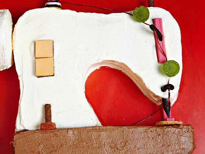 """**[Sewing machine cake](https://www.womensweeklyfood.com.au/recipes/sewing-machine-3271