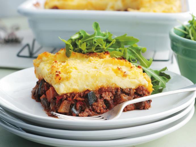 "**[Italian cottage pie](https://www.womensweeklyfood.com.au/recipes/italian-cottage-pie-8158|target=""_blank"")**"