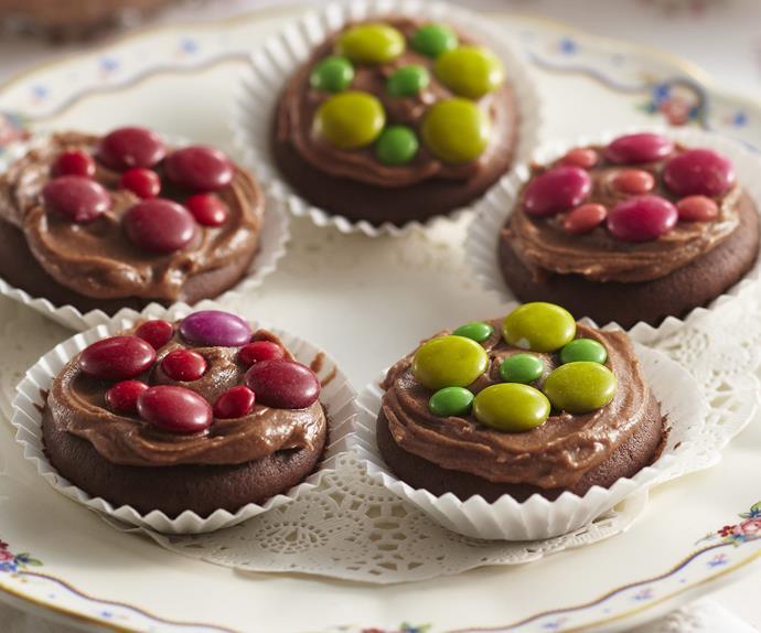 CHOCOLATE Polka Dot Cupcakes