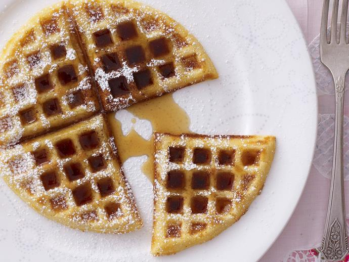 """[Waffles with maple syrup](https://www.womensweeklyfood.com.au/recipes/waffles-with-maple-syrup-15273