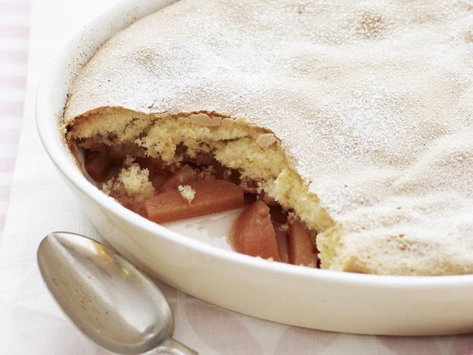 "**[Quince sponge pudding](https://www.womensweeklyfood.com.au/recipes/quince-sponge-pudding-8217|target=""_blank"")**"