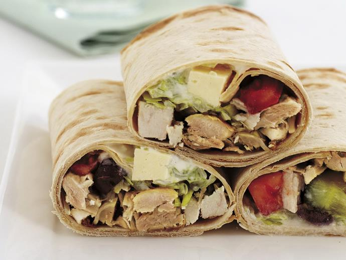"**[Chicken lavash rolls](http://www.womensweeklyfood.com.au/recipes/chicken-lavash-rolls-3091|target=""_blank"")**  Delicious chicken and Greek salad wrapped in an Armenian lavash."